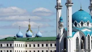 Вид на Казанский кремль