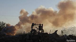 غارة على غزة
