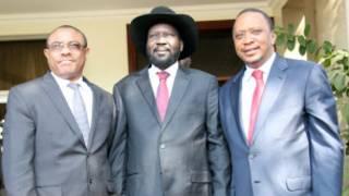 Rais Desalegn wa Ethiopia, Kiir wa Sudan Kui na Kenyatta wa Kenya wakikutana mjini Juba