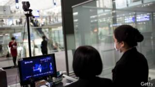 香港国际机场入境旅客体温检查