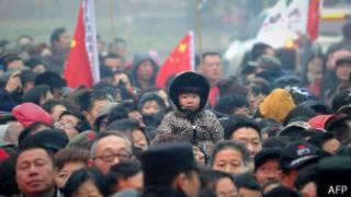 حشد من الصينيين خلال الاحتفال