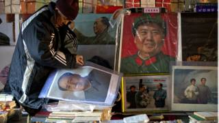 Cartazes de Mao Tsé-Tung (AP)