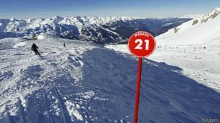 Esquiadores en Meribel