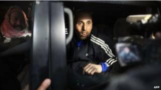 Освобожденный палестинский заключенный