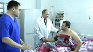 रूसी राष्ट्रपति, व्लादिमीर पुतिन, वोल्गोग्राद में