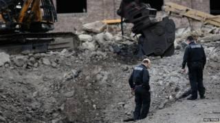 Local da explosão (Reuters)