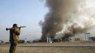 Wani mayakin Taliban yana harba roka
