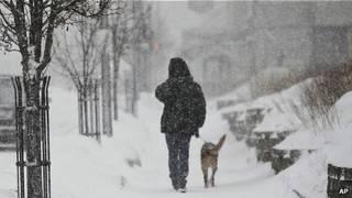 بارش برف و کاهش دما در بخشهای وسیعی از آمریکا و کانادا