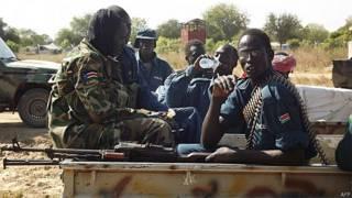 Soldados do Exército do Sudão do Sul (AFP/Getty)
