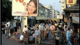 仰光街景,2002年资料图片
