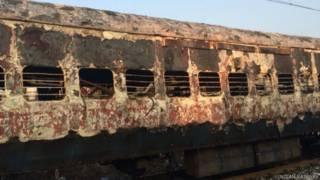 ट्रेन में आग
