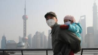 Smog en Shanghái