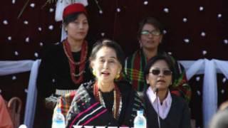 Daw Aung San Suu Kyi in Chin State