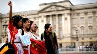Turistas chinas en Londres