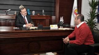 Konya Sanayi Odası Başkanı Memiş Kütükçü ve Sinan Onuş