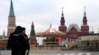 Российская полиция на Красной площади в Москве