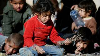 Syria children refugee in lebanin without schools