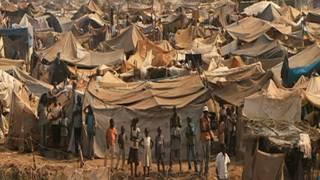 مخيم في أفريقيا الوسطى
