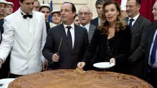 بانوی اول فرانسه در کنار رئیس جمهور