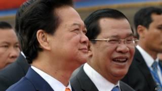 Hai ông Nguyễn Tấn Dũng và Hun Sen