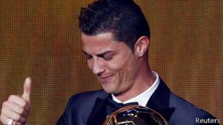 """Криштиану Роналду на церемонии вручения """"Золотого мяча"""""""