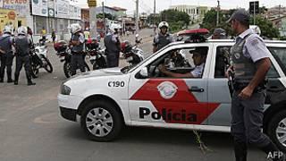 Policías en Campinas