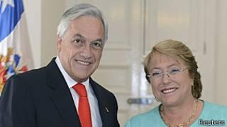 Sebastián Piñera y Michelle Bachelet