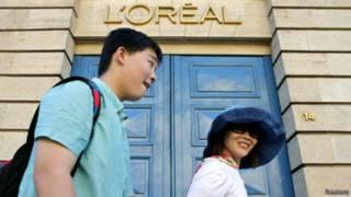 在巴黎的中国旅客