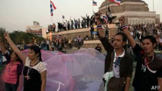 المحتجون التايلانديون