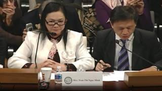 Bà Trần Thị Ngọc Minh điều trần trước Ủy hội Nhân quyền Tom Lantos