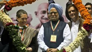 सोनिया गांधी, मनमोहन सिंह, राहुल गांधी