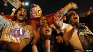 मिस्र में नए संविधान के समर्थक