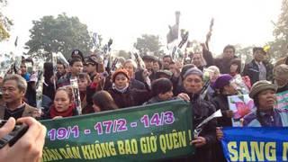Biểu tình tưởng niệm 40 năm hải chiến Hoàng Sa ở Hà Nội