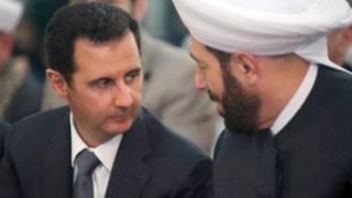 بشار اسد (سمت چپ)