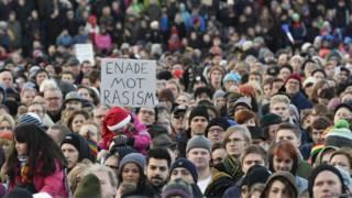 Protesto antirracismo em Estocolmo, em dezembro (Reuters)