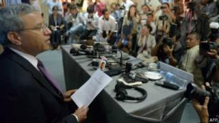 Ông Surya Subedi tại cuộc họp báo ở Phnom Penh hôm 16/1