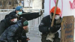 Столкновения в центре Киева 20 января 2014 г.