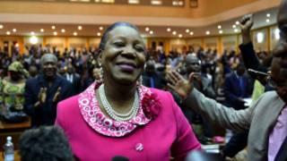 La nouvelle présidente de transition en Centrafrique Catherine Samba Panza.
