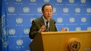 عکس آرشیوی از دبیر کل سازمان ملل