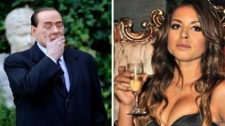 Silvio Berlusconi dan Karima El Mahroug.