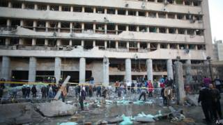 Место взрыва в Каире