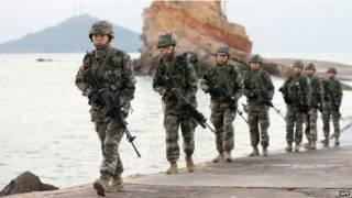 Militares sul-coreanos. Foto: AFP