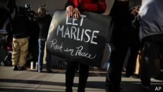 """Плакат """"Дайте Марлиз спокойно умереть"""""""
