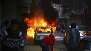 Explosão de bomba no Cairo. Foto: Reuters
