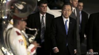 Ban Ki Moon, a su llegada hoy a Cuba