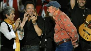 Peter Seeger y Bruce Springsteen