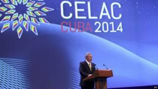 Presidente cubano, Raúl Castro na abertura da Celac (AP)