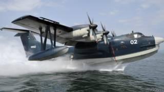 日本新明和工業生產的US-2型兩棲軍用海上搜救飛機