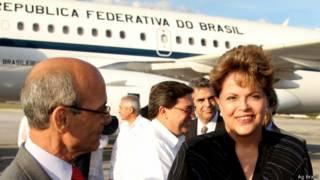 Dilma, ao chegar a Cuba para cúpula da Celac (Ag Brasil)
