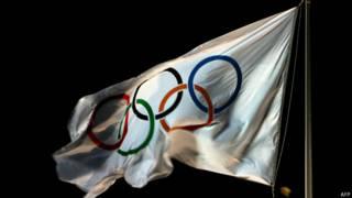Bandeira olímpica | Crédito: AFP